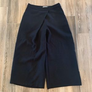 Mustard Seed culottes black fold over detail med